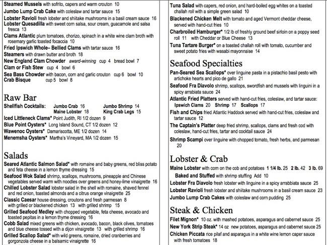 Heart 2 heart blog archive atlantic fish co for Atlantic fish menu