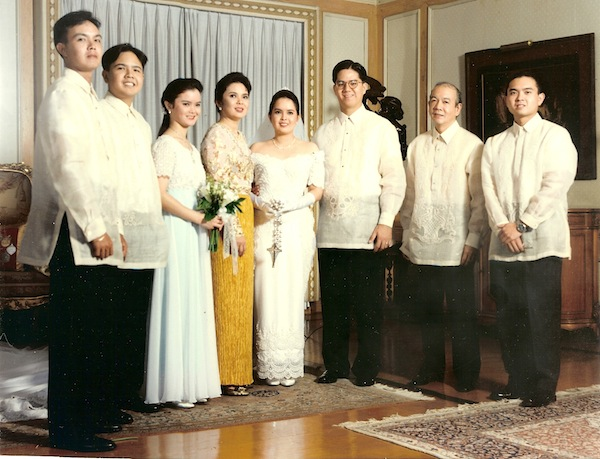 Wedding Dresses For Ninang : Ninang dress my wedding gown and the dresses of ladies were done
