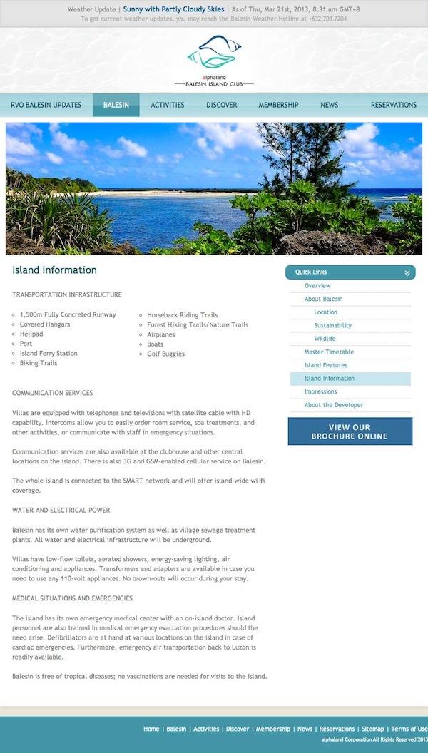 Balesin Island Club Rates
