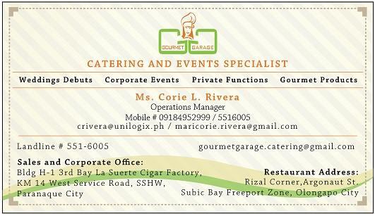 gourmet garage corie contact details