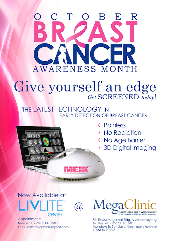 LIVLITE Flyer Oct Breast Cancer Awareness