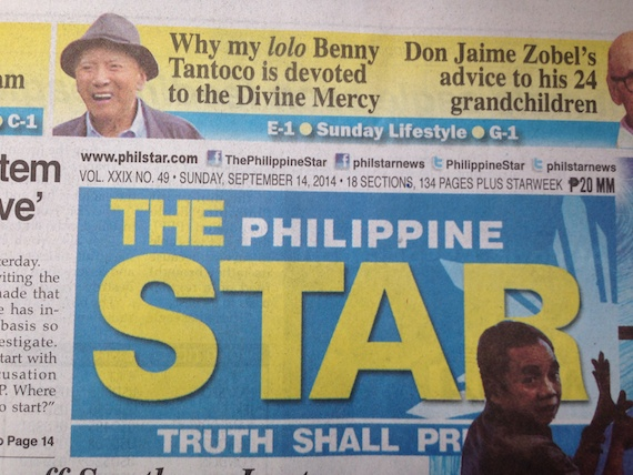 Philippine STar Sunday Lifestyle Sept 14 2014 Divine Mercy Lolo Benny