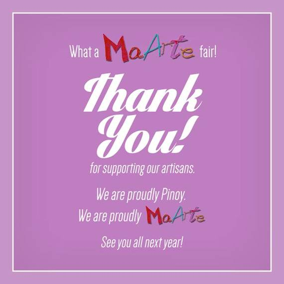 Thank you for Supporting Our Artists at the Maarte 2014 (2)
