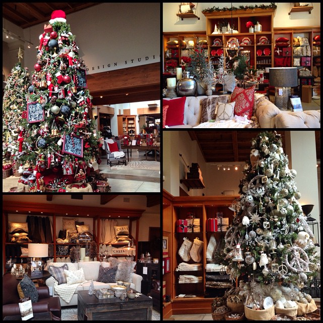 It's Christmas once again!! ?colors in Pottery Barn - Red, Gray and Silver ? #potterybarn #christmascolors