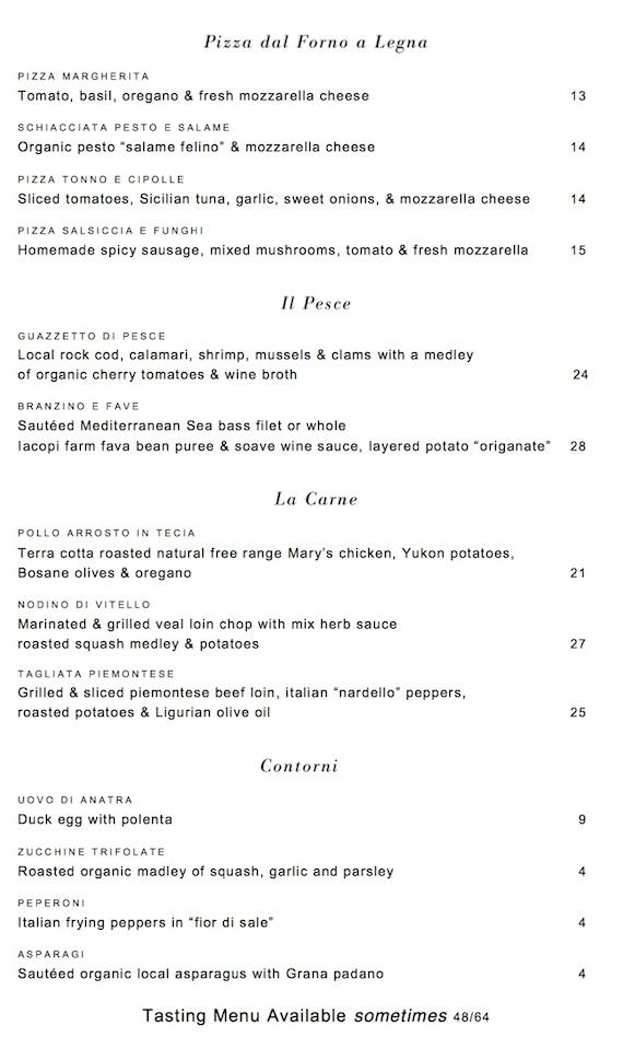 Donato Enoteca menu 2