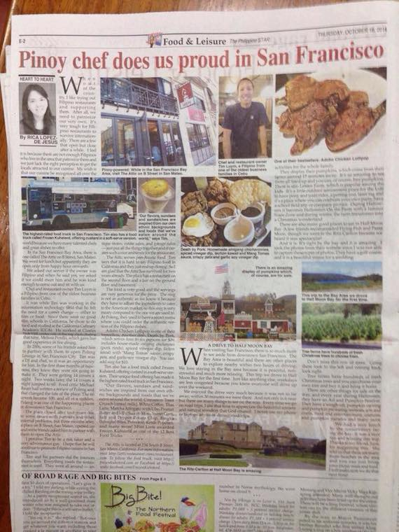 Driving to Half Moon Bay Philippine Star article October 16 2014