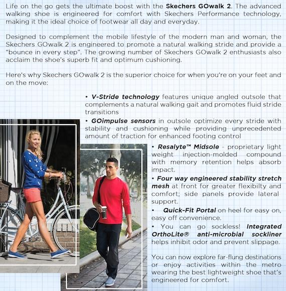 Skechers go walk 2 engineered for comfort