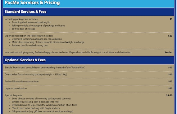 pac me servicing and pricing
