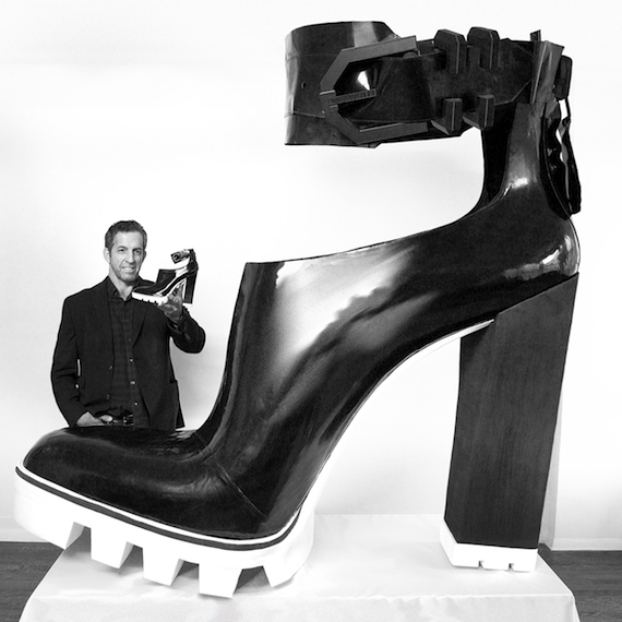 Kenneth Cole and World's Largest High-Heeled Shoe