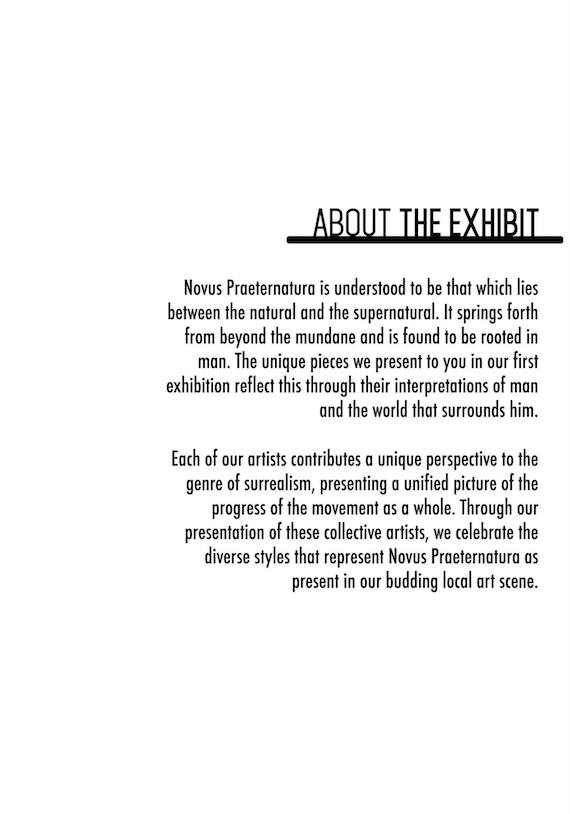 Novus Praeternatura About the exhibit