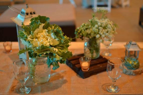blue leaf filipinas anniv table decor
