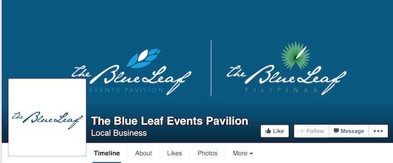 the blue leaf facebook page