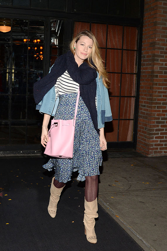 Blake Lively Leaving A Lunch Meeting in NY