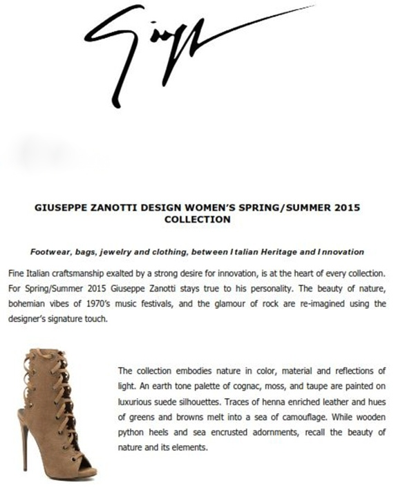 Giuseppe Zanotti Design Women's Spring Summer 2015 Collection_001