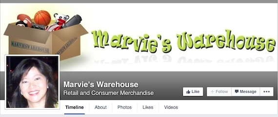 marvies warehouse facebook page
