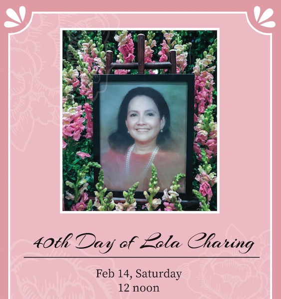 40th day of Lola Charing