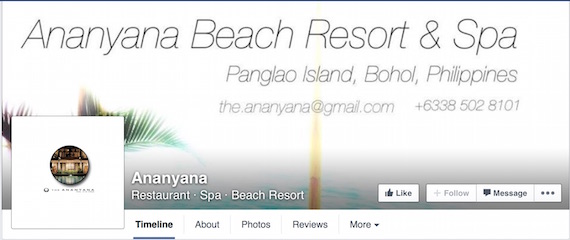 Ananyana Beach resort bohol facebook