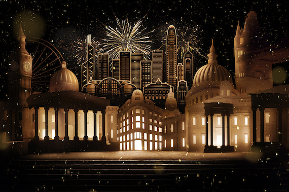 Burberry Lunar New Year 2015 - Hong Kong Skyline