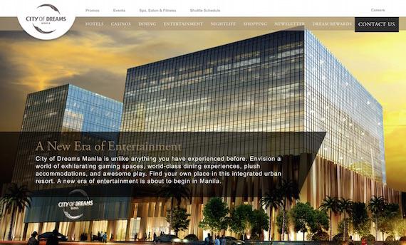 City of Dreams website