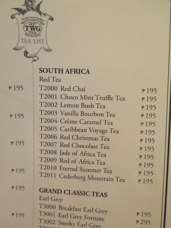 TWG Tea South Africa Red of Africa tea