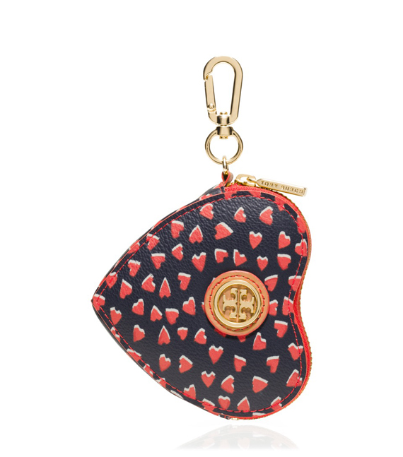 Tory Burch Kerrington Heart Zip  Coin Case in Valentines    Amore