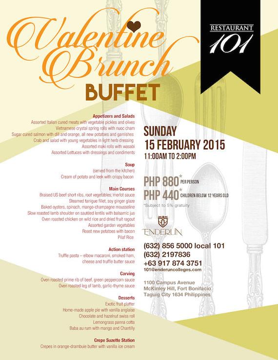 Valentines Buffet Enderun Feb 15