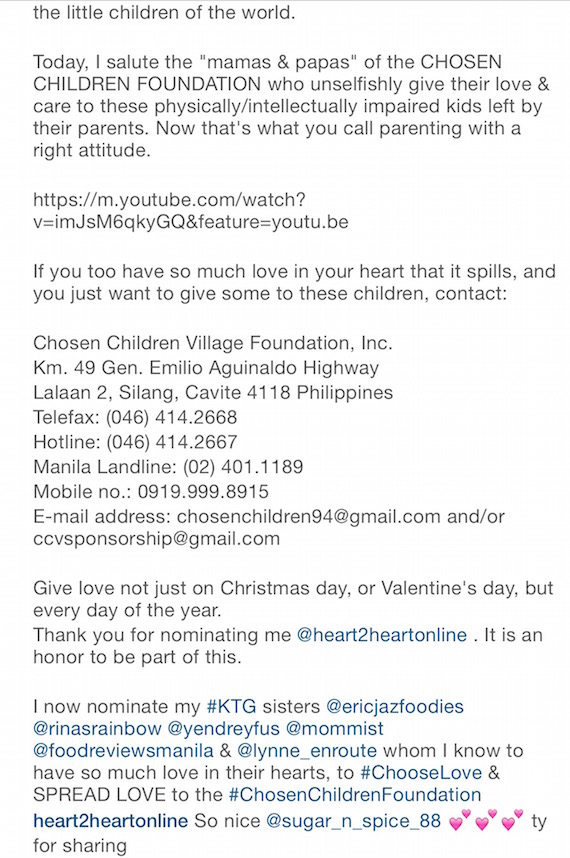 jane go chosen children foundation ig