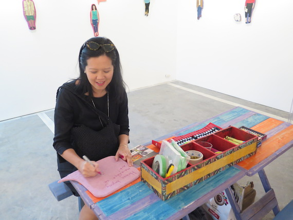 yvette fernandez at geraldine javier art fair philippines 2015