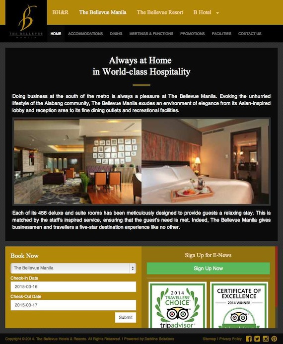 Always at Home in World-class Hospitality Bellevue Manila