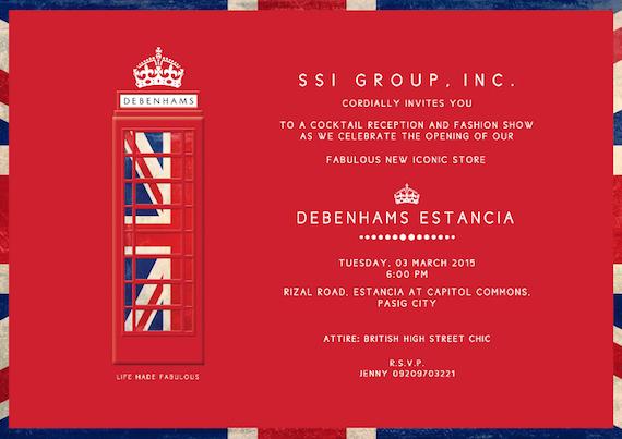 Debenhams Estancia invitation_March 3