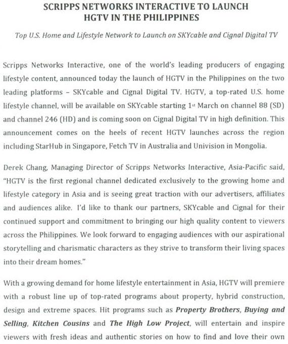 HGTV philippines 1