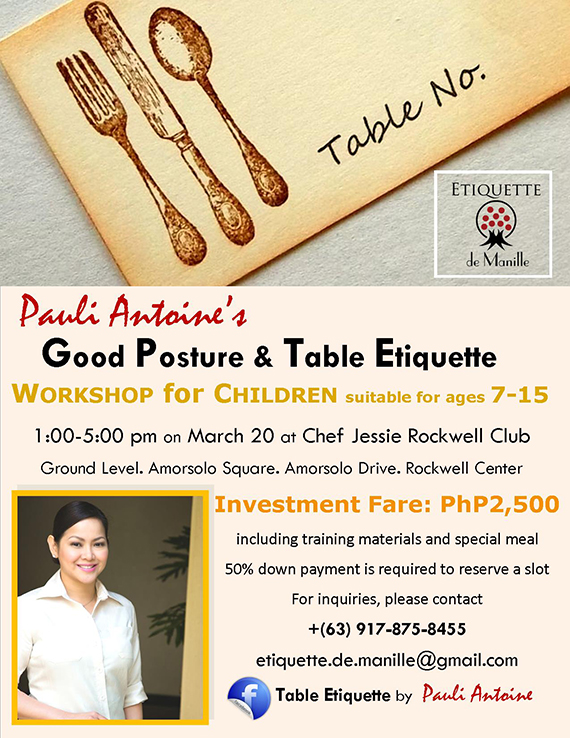 Table Etiquette by Pauli Antoine at Chef Jessie Rockwell on Mar 20 2015