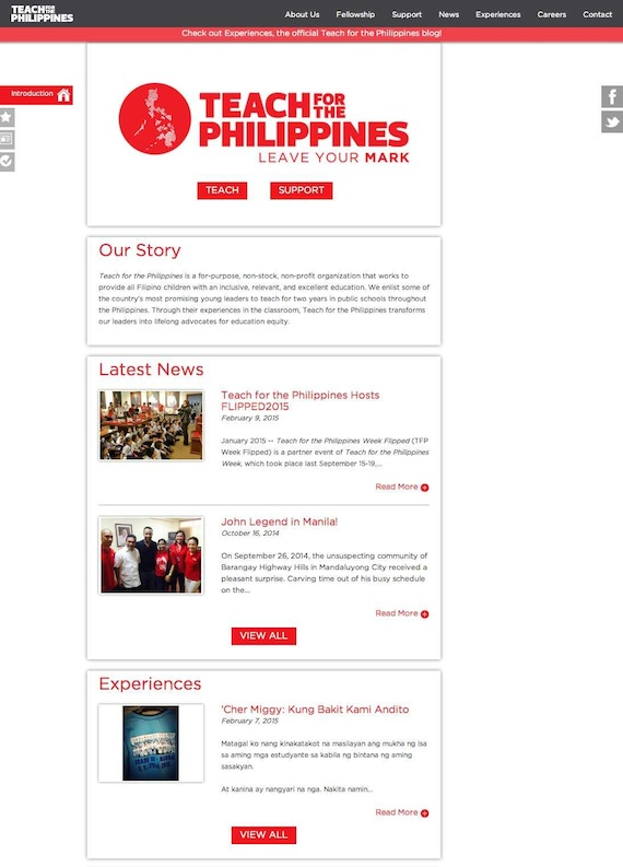 Teach for Philippines website