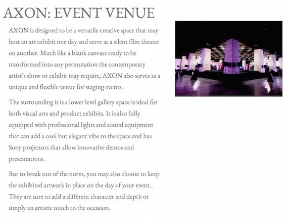Axon event venue green sun