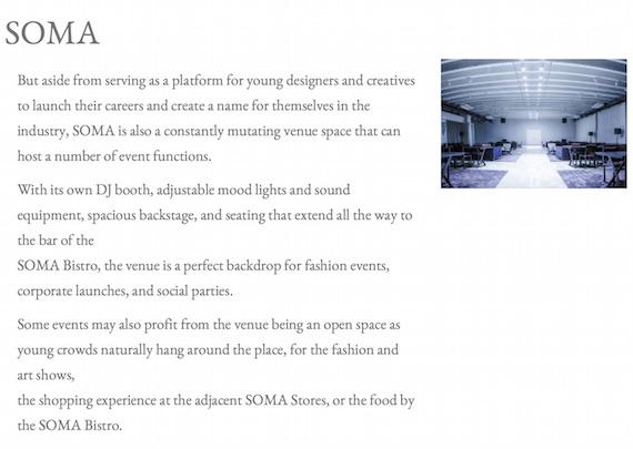 SOMA green sun event venue