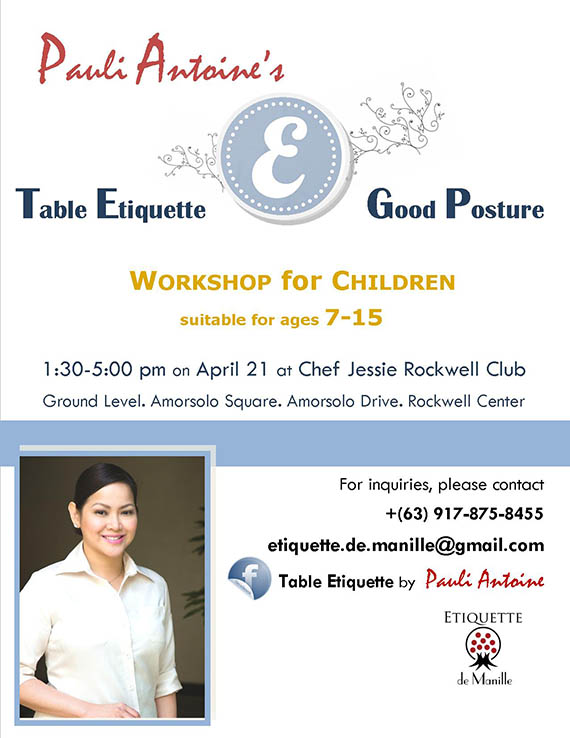 Table Etiquette by Pauli Antoine at Chef Jessie Rockwell on April 21, 2015