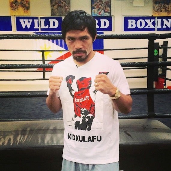 manny pacquiao wears Manny Kid Kulafu