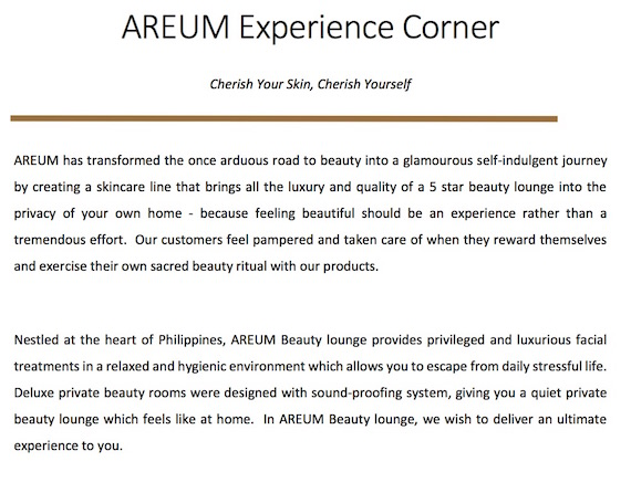 Areum Experience counter