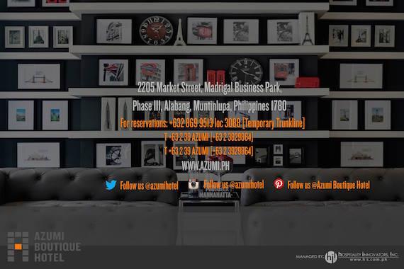 contact AZumi boutique hotel