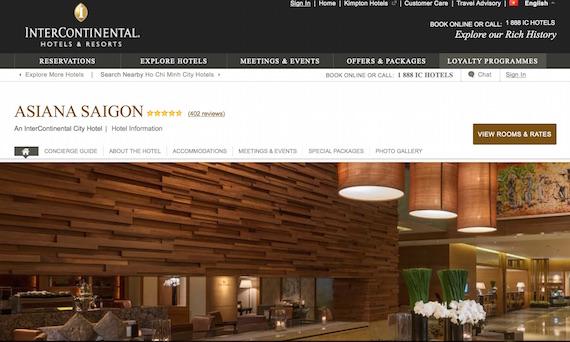 intercontinental Asiana hotel HCM website