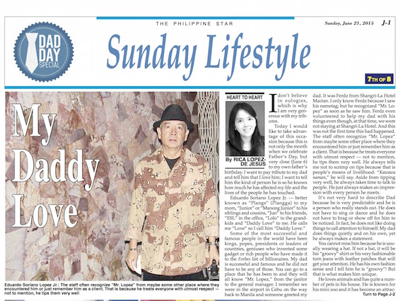 My Daddy Love Phil STar Fathers Days 2015 page 1 copy
