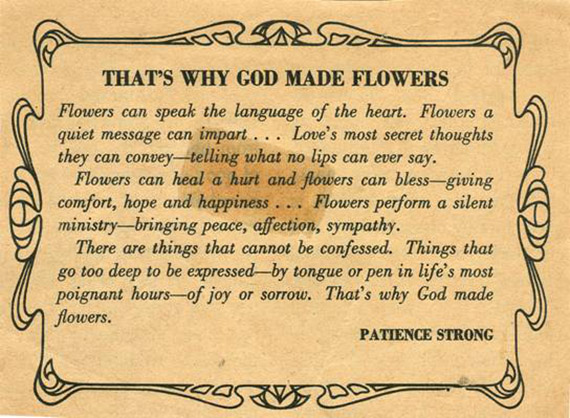 That's Why God Made Flowers