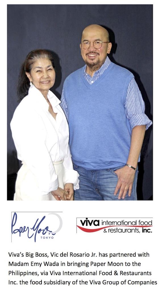 Emy Wada and Vic Del Rosario Paper Moon Philippines