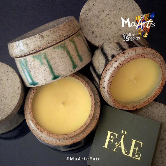 FAE candles and Mia Casal Pottery maarte 2015