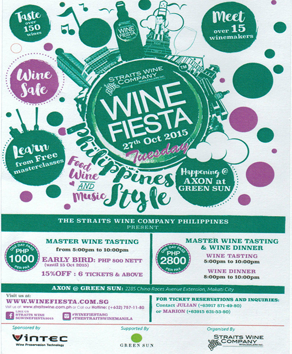 The Straits Wine Company's 5th Annual Philippine Wine Fiesta