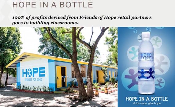 Hope in a bottle Starbucks