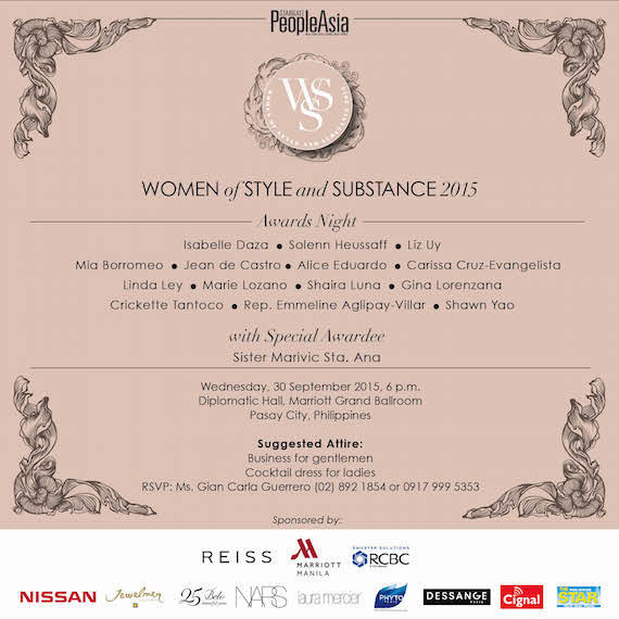 People Asia Women of Style and Substance 2015 Invite EMAIL