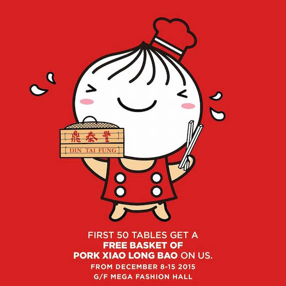 Din Tai Fung Philippines opening day promo