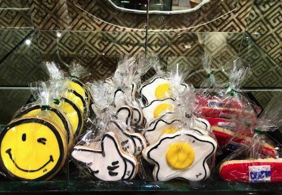 Anya Hindmarch sticker shop cookies