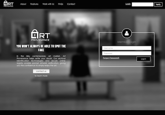 Art Provenance website